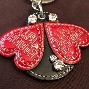 Coach Poppy Ladybug Keychain Keyfob Bag Charm